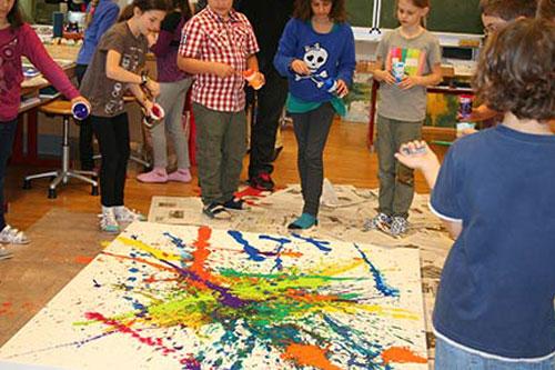 Malen mit Kindern - Volksschule Bisamberg