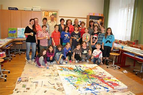 Viertelfestival NÖ – VS Bisamberg – Malen mit Kinder
