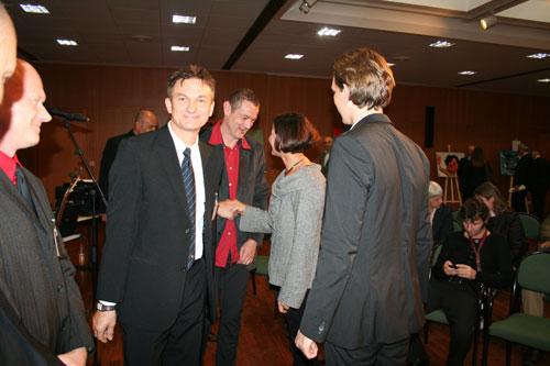 Begrüßung durch Fr. BM Mag.a. Johanna Mike Leitner und Staatssekretär Sebastian Kurz