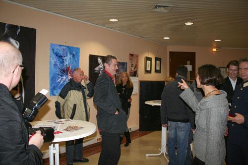 Dieter Thomas Poindl bei der Präsentation seiner Werke