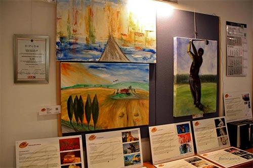 Weitere ausgestellte Werke des Künstlers