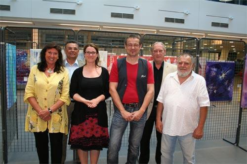 Dieter Poindl - vlnr. Edith Sluszanski Mattes, Thomas Linzbauer, Barbara Weber, Dieter Thomas Poindl, Karl Löff