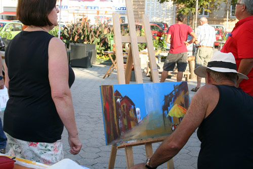 Dieter Poindl - Wolfgang Peterl, einer meiner Künstlerkollegen, Freund, Mitaussteller bei Montmartre und bei EROS.