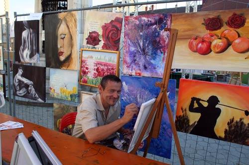 Dieter Poindl - das Gemälde ´Gedanken sind frei´ im Entstehen