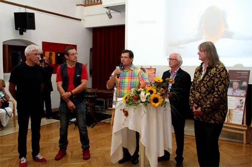 Die Eröffnungsrede mit dem Bürgermeister der Marktgemeinde Bisamberg, Dr. Günter Trettenhahn